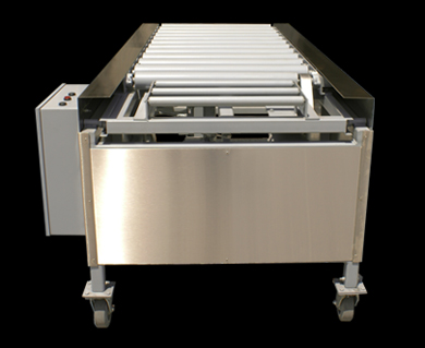 Automatic loading crematory table